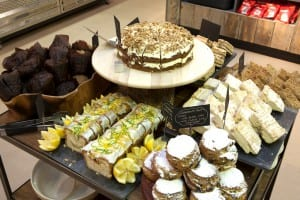 Photo of a selection of cakes in the Bristol Museum & Art Gallery cafe