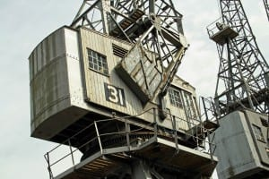 Working exhibits - image of m shed crane