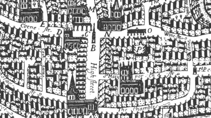 Image of the Millard Map at bristol record office