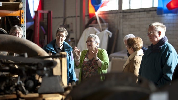 Behind the scenes tour of M Shed for deaf visitors