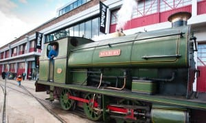 Working exhibits - the Henbury train outside M Shed