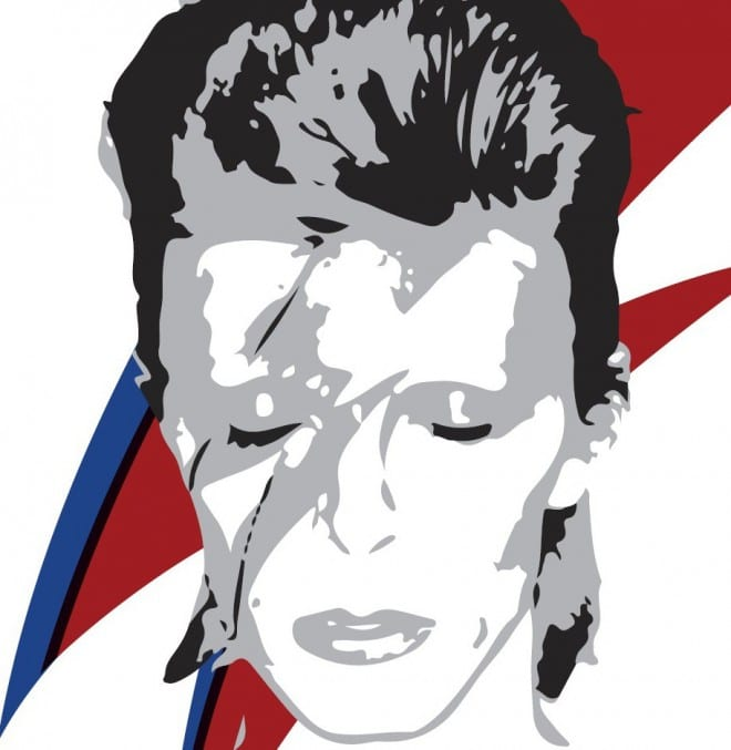 Illustration of David Bowie as Ziggy Stardust