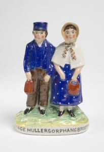 Image of a model depicting a pair of orphans