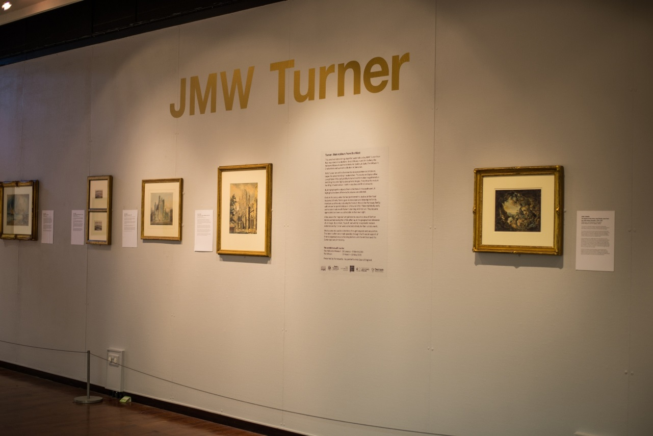 Photo of the Turner exhibition at Swindon Museum & Art Gallery
