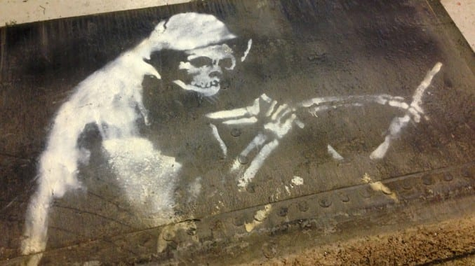 Photo of Banksy's Grim Reaper M Shed