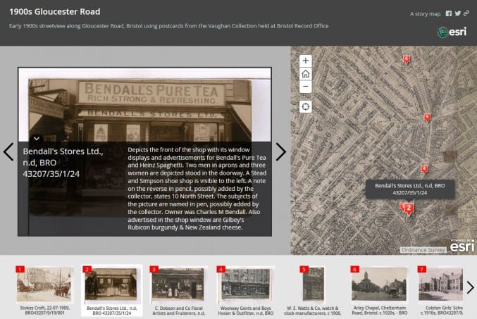 Image of a story map of Gloucester Road in bristol