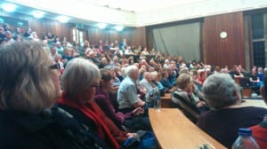 A full auditorium enjoying an interesting and free lecture, thanks to the Friends of Bristol Museums, Galleries & Archives.