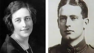 Photos of Agatha Christie 1925 and Archibald Christie 1915