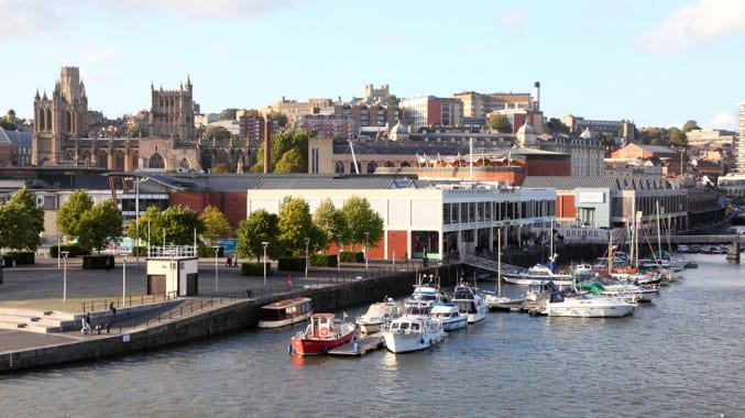 A view of Bristol (Brizzle) from the terrace of M Shed