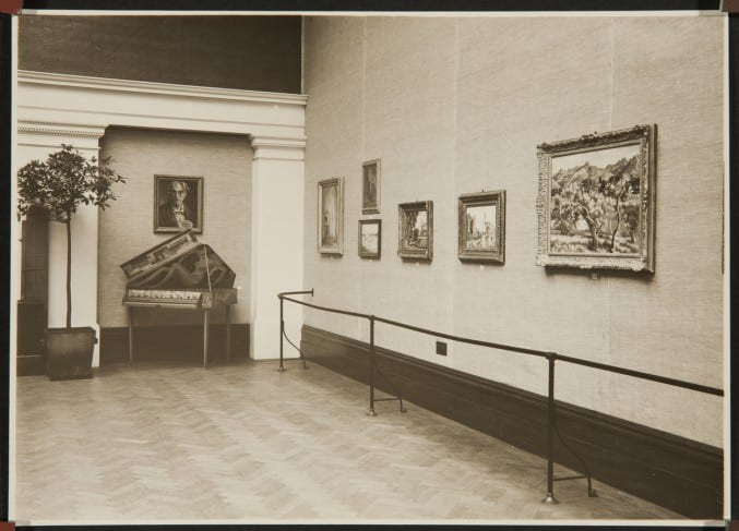 2 photograph of 'Roger Fry Memorial Exhibition'