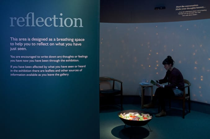 photo of the reflection area in the exhibition