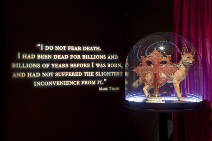 photo of the symbols of death area in the exhibition