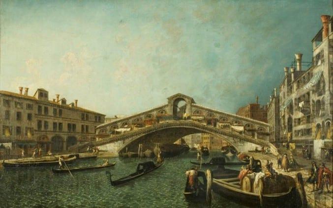 The Rialto Bridge painting