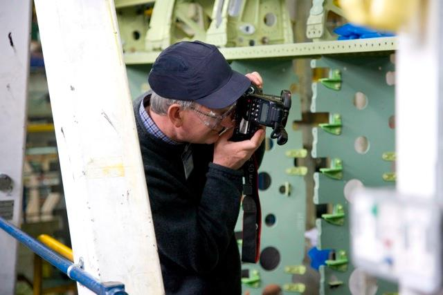 Photo of Martin Parr taking a photo