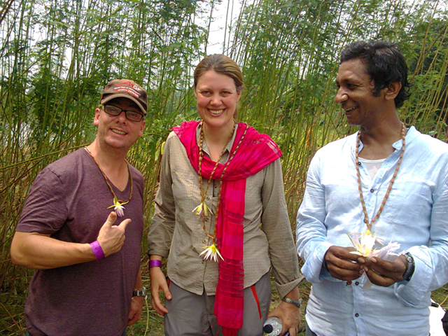 Charlotte Scott on location in Bangladesh