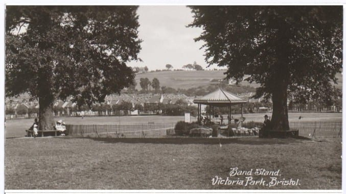 The bandstand at Victoria Park, early 1900s