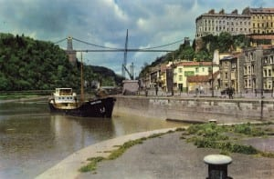 The entrance to the City Docks from the River Avon, showing MV (motor vessel) Alwin Klein at Cumberland Basin, c. 1950