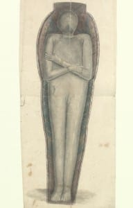 Hand-drawn picture of an egyptian mummy