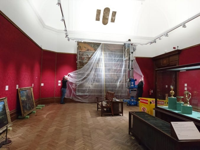 Photo of the closed gallery 3 at Bristol Museum