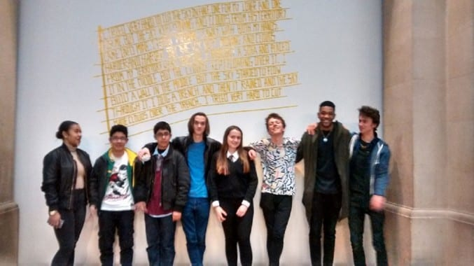 Young People from Project X outside the Art From Elsewhere gallery