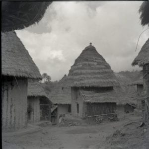 Wives' houses, belonging to Banyang people, 1954