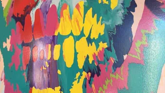 Detail of Beautiful Hours Spin Painting IX by Damien Hirst