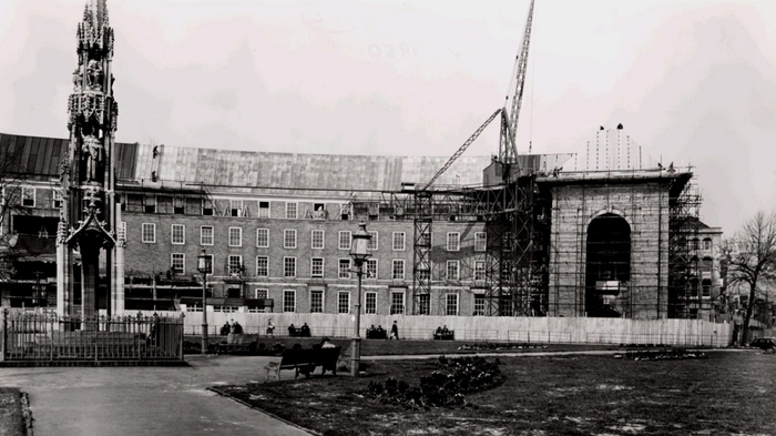 Image of the 'new' Council House, now called City Hall on College Green, under construction.