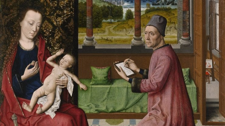 St Luke Drawing the Virgin and Child: images and copying
