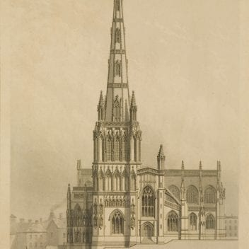 Drawing of St Mary Redcliffe Church.