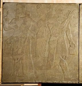 An Assyrian relief in our collection.
