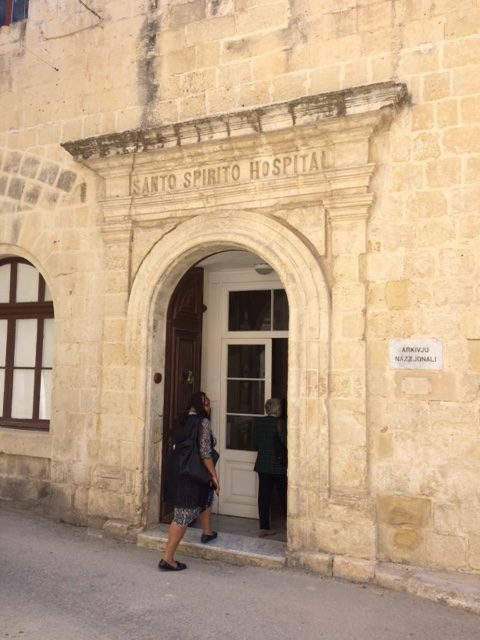 The former Santo Spirito Hospital, now the National Archives of Malta