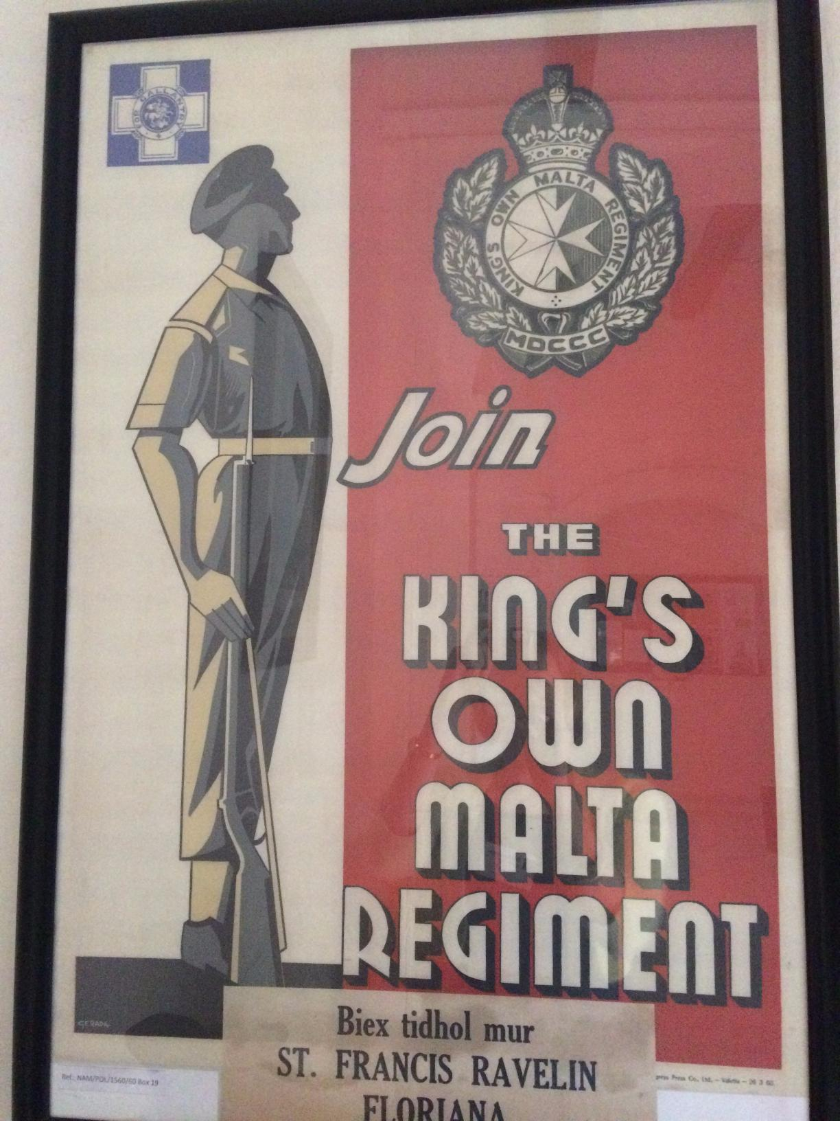Recruiting poster on display in the National Archives