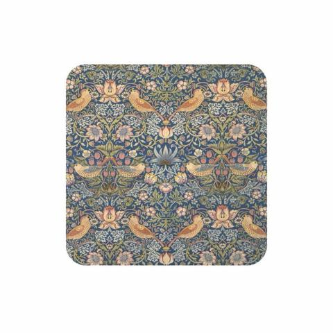 Image of a coaster covered in a blue floral design
