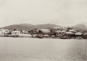 The view of Freetown, Sierra Leone, which Margaret would have glimpsed from the Balmoral Castle. (From the Huxley collection, ref. 1995/076/1/4/1/103)
