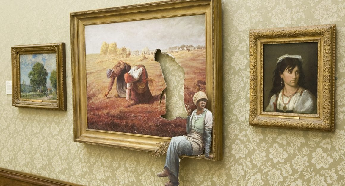 Photo of Banksy art