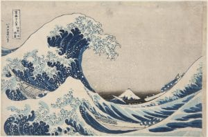 Katsushika Hokusai (1760-1849), The Great Wave off Kanagawa, 1831, from the series Thirty-six Views of Mount Fuji