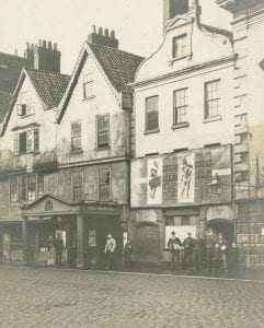 An old black and white image of the old Theatre Royal
