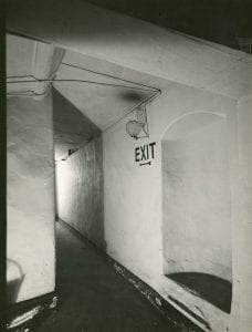 A photographs taken in the 1940s show gas lighting still in use