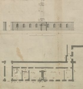 Extract from Vanbrugh's drawings of Kings Weston House