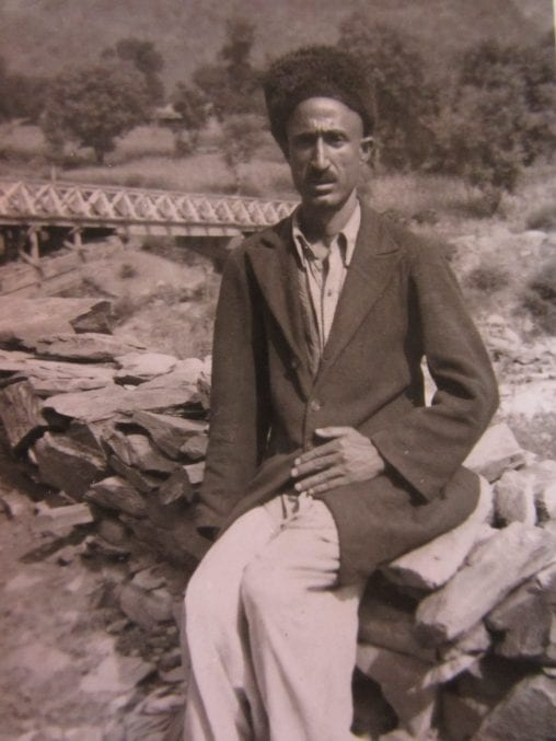 A picture of the Guide from Stephens' Kashmiri trip, called Ahamdoo