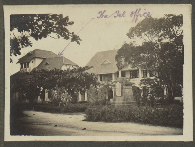 The Telegraph Office at Dar es Salaam, where Margaret's friends worked