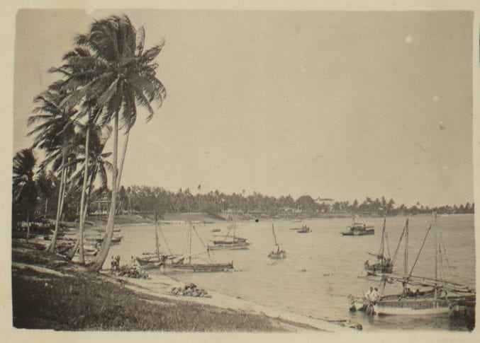 A view of the coastline at Dar es Salaam