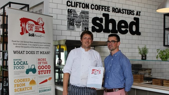 An image of the silver food award at M shed cafe
