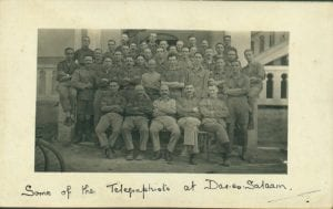 Group photograph of the staff of the Dar es Salaam Telegraph Office which Margaret Duncan visited