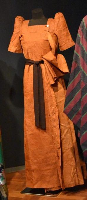 An image of a african barkcloth dress