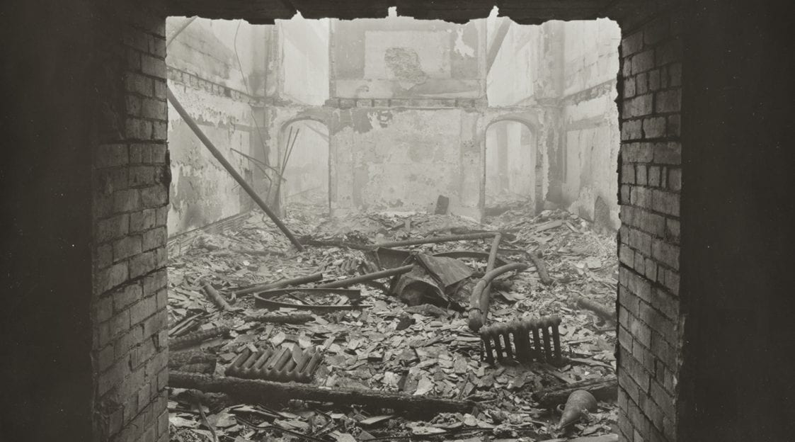 bomb damage to bristol museum (now browns restaurant)