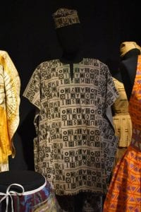 An image of an african corduroy tunic and trouer set