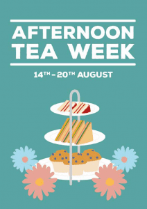 Afternoon tea week 14th - 20th august