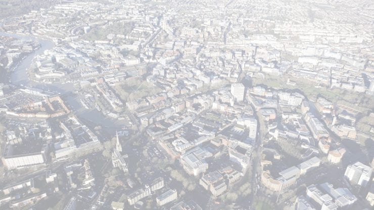 an aerial view of bristol