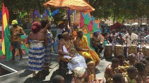 Ghanaian dancers at Harbour Festival